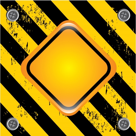 danger signal over lineal black background vector illustration  Stock Vector - 23064034