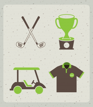 golf design over pattern  background vector illustration  Illustration
