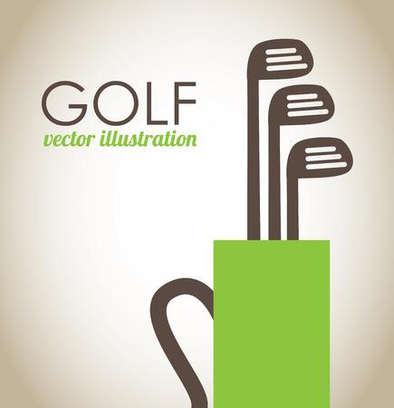 miniature: golf design over beige background vector illustration