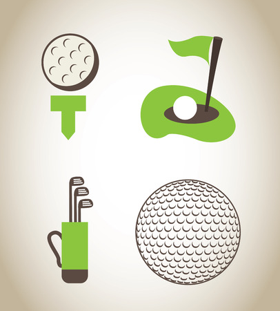 caddie: golf design over beige   background vector illustration  Illustration