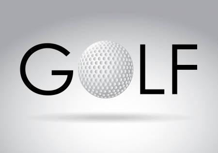 golf design over gray   background vector illustration Vector