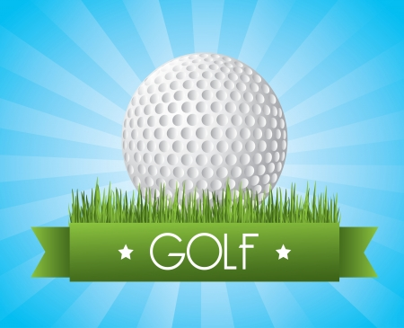 golf design over blue   background vector illustration Vector