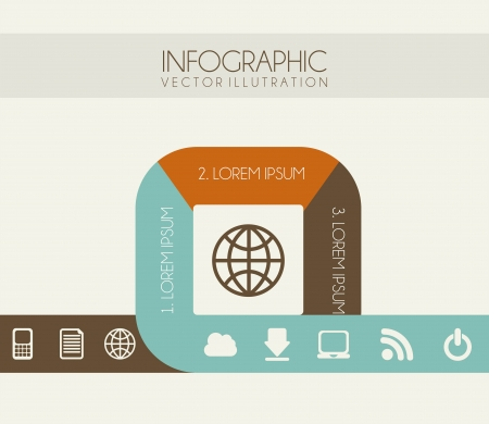 determinants: infographics design over white background vector illustration