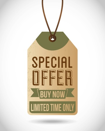 special offer design over gray background vector illustration Vector