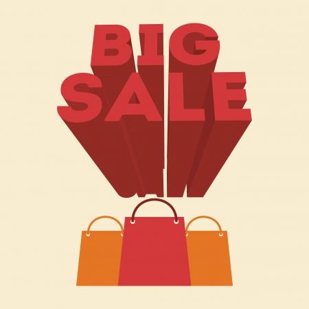 big sale design over pink background vector illustration Vector