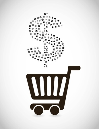 shopping icons over gray  background vector illustration Stock Vector - 23063799