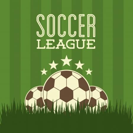 star field: soccer design over green  background  vector illustration