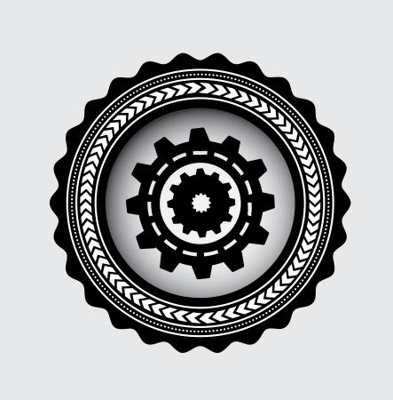 gear skin over white background vector illustration  Vector
