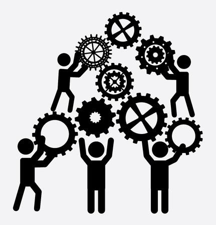 teamwork ontwerp op een witte achtergrond vector illustratie