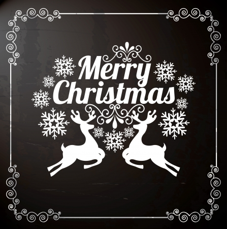 merry christmas  over black background  vector illustration   Vector
