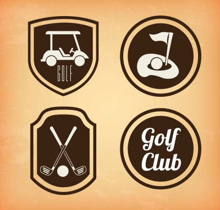 golf icons over beige  background vector illustration Vector