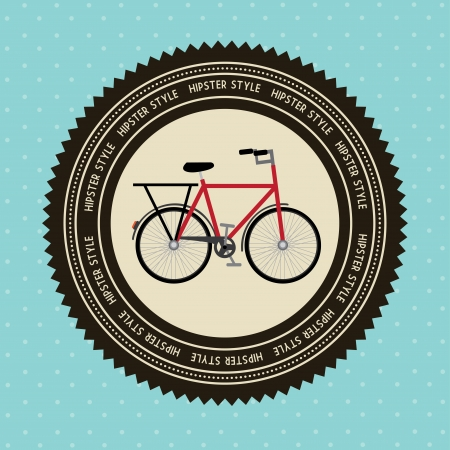 bicycle design over blue background  vector illustration Vector