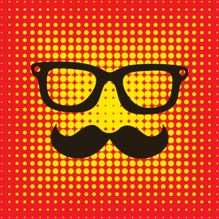 hipster design over orange background vector  illustration   Vector