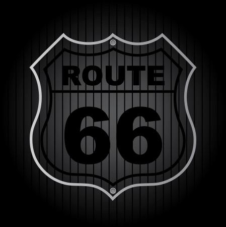 route 66 over black background vector illustration