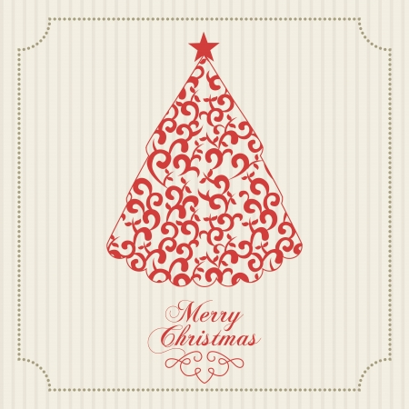 merry christmas  over lineal background  vector illustration  Illustration