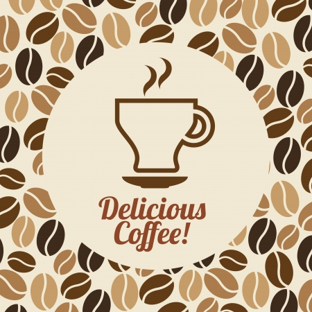 coffee design over pink background vector illustration Illustration