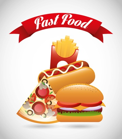 fast food design over gray background vector illustration Stock Vector - 23107229