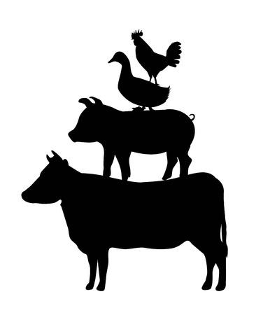 asados: men� a la parrilla sobre fondo blanco ilustraci�n vectorial