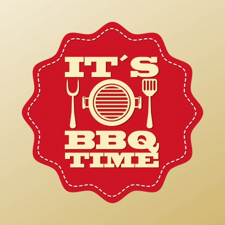 bbq design over beige background vector illustration Vector