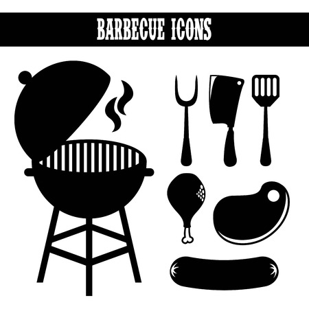 bbq design over white background vector illustration Vector