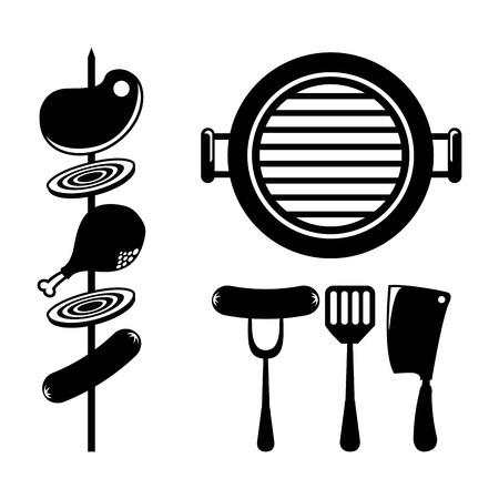 bbq design over white background vector illustration Vector