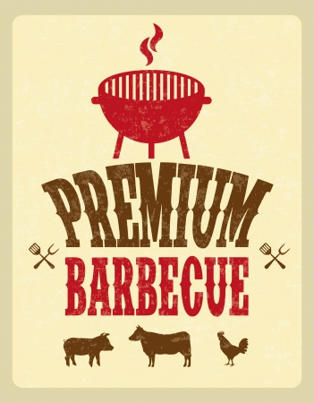 bbq design over pink background vector illustration Vector