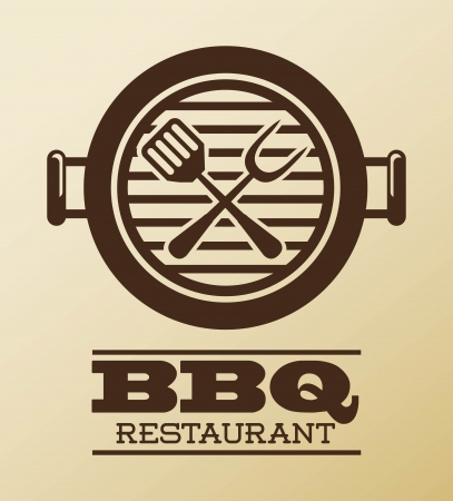 bbq: bbq design over pink  background vector illustration Illustration