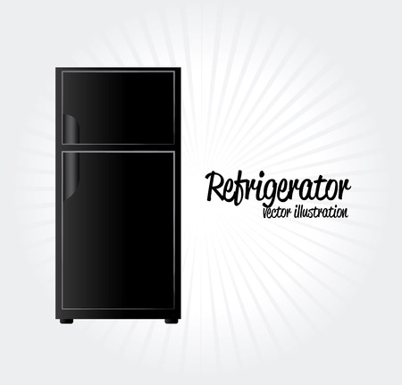 electricals: refrigerator  icon over white background vector illustration