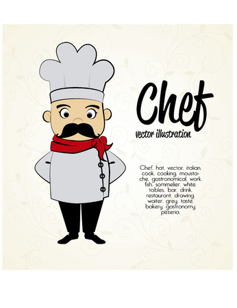 chef icon over white background  vector illustration Vector