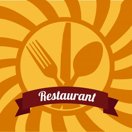 restaurant design over grunge background vector illustration  Vector