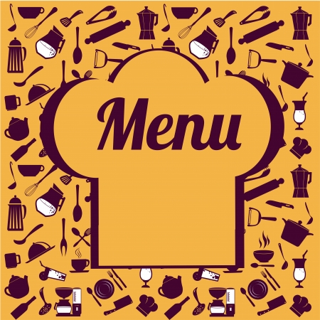 menu design over yellow background vector illustration  Vector