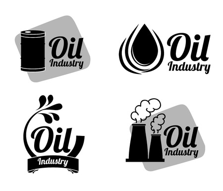 oil industry over white background vector illustration Vector
