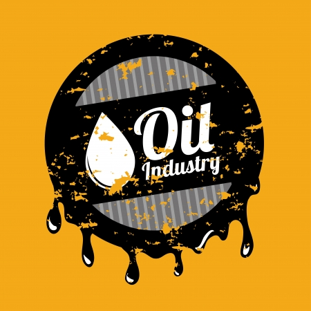 oil industry over orange background vector illustration Stock Vector - 23107782