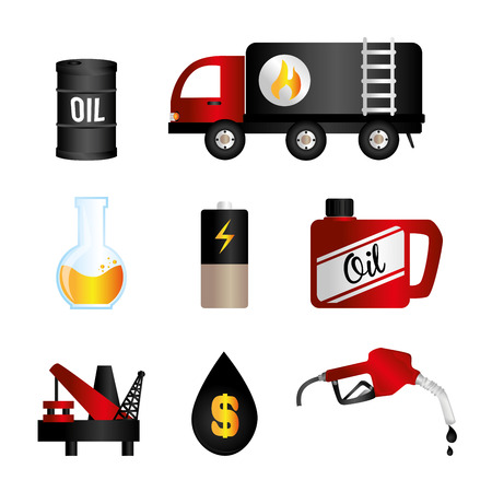 fuel  industry over white background vector illustration Vector