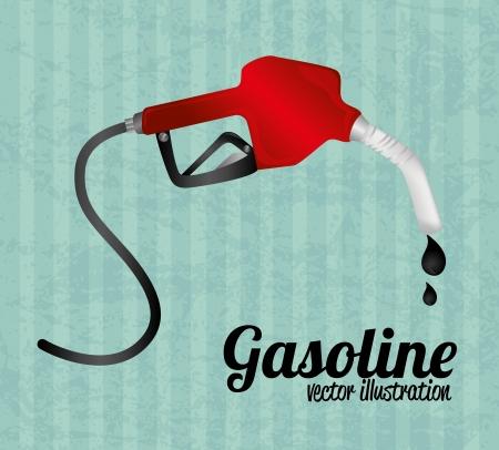 fuel  industry over blue background vector illustration Vector