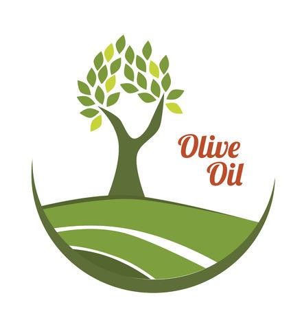 olijfolie over witte achtergrond vector illustratie