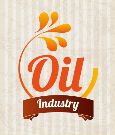 oil industry over lineal background vector illustration Vector