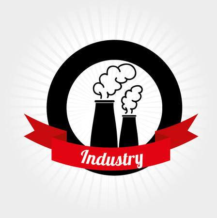industry design over gray background vector illustration Stock Vector - 23107814