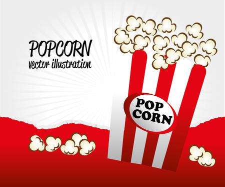 disegno pop corn su sfondo grigio illustrazione vettoriale