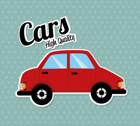 car design over dotted background vector illustration Vector