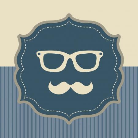 hipster design over blue and beige  background vector  illustration Stock Vector - 23229593