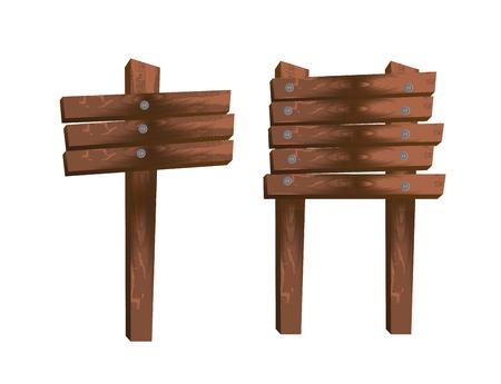 wooden label over white background vector illustration  Stock Vector - 23229600