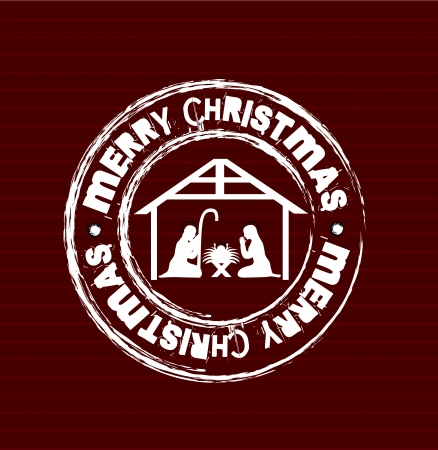 christmas design over lineal background vector illustration