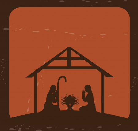 christmas design over brick background vector illustration