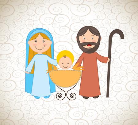 christmas design over pattern background vector illustration