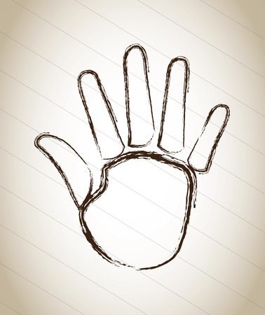 hand design isolated over gray background. vector illustration Vector
