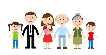 family design over white background vector illustration Vector