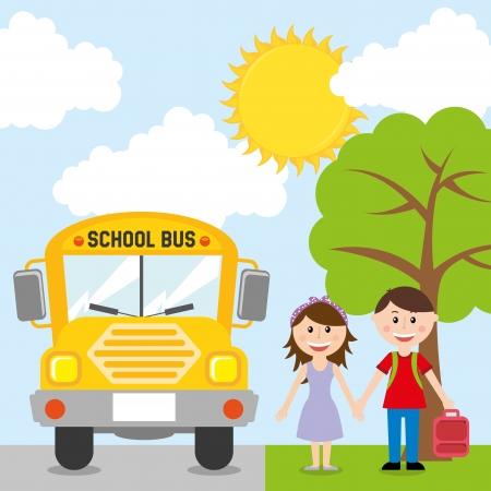rout: back to school design over sky background vector illustration  Illustration