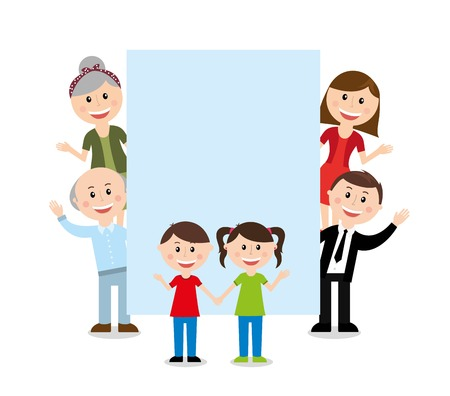old family: family design over white background vector illustration