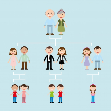 family design over blue  background vector illustration Vector